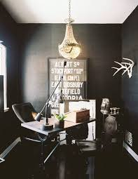 black office adam braum black office with black grasscloth wallpaper vintage french desk black leather chair black middot office