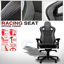 universal blkgrey stitches pvc leather mu racing bucket seat office chair c03 fits bmw 635csi bmw z3 office chair seat