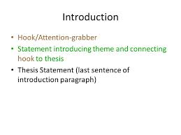 writing the literary analysis essay use this power point as a    introduction hook attention grabber statement introducing theme and connecting hook to thesis thesis statement