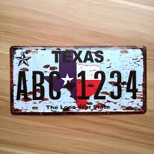 home decor plate x: lkb x  about license plates signs car number quottexas abc