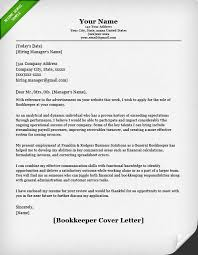 bookkeeper cover letter covering application letter