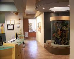 large round aquarium aquarium office
