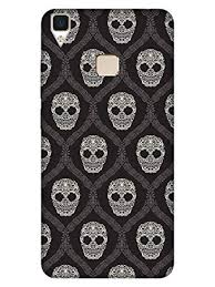 MADANYU Vivo V3 Cover - Gothic <b>Floral Skull Vintage</b>: Amazon.in ...