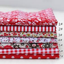 7pieces/lot Red mixed design flower pattern 25cmx25cm cotton ...