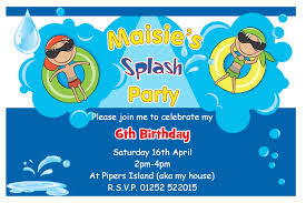 cool birthday party invitation card template birthday party excellent pool party invitation templates