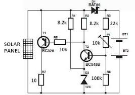 world technical solar charger circuit diagram solar charger circuit diagram