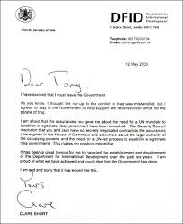 clare short    s resignation letter   special reports   guardian co    clare short    s resignation letter to tony blair