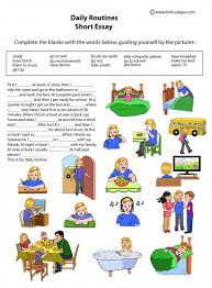 daily routines kid and kids pages on pinterest daily   kids pages   daily routines   short essay