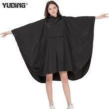 <b>Yuding Women</b> Rain Poncho <b>Hooded</b> Coat with Pockets Outdoors ...