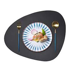 JTX Placemats Round <b>Leather</b> for <b>Dinner Table Mats</b> Heat-Resistant ...