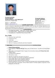 sales manager resume hotel top duty sample resume promotion letter    sample
