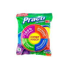 Набор <b>салфеток Paclan Mix</b> микрофибра 8 шт купить по цене руб ...