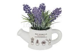 Купить <b>Декоративные цветы Букетик</b> сиреневый в лейке без инд ...