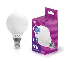 <b>Лампа LED REV</b> Е14 <b>9Вт</b> шарик холодный свет купить по цене ...