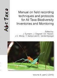 Eyman et al (editors). 2010. Manual on field recording techniques ...