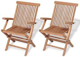 Leting FAMIROSA Folding Garden Chairs 2 pcs Solid ... - Amazon.com