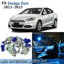 <b>13x Blue</b> Interior LED <b>Lights</b> Package Kit for 2013-2015 Dodge Dart ...
