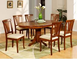medium brown oval dining table pecan brown dining table a america