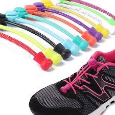 2019 <b>New</b> 1 Pair Shoelaces <b>Elastic</b> No Tie Locking <b>Round Shoe</b> ...