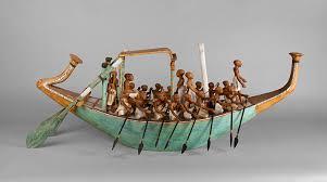 papyrus in ancient egypt  essay  heilbrunn timeline of art  model paddling boat