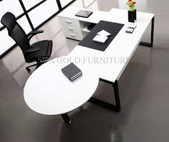 round office desk modern white simple high quality manager executive with vice round table office desk abm office desk diy