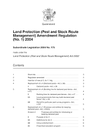 Land Protection (Pest and Stock Route Management) Amendment ...