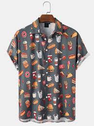 <b>Men's casual fashion printed</b> shirt