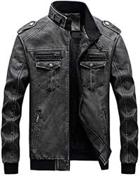 <b>Men's Autumn Winter Plus</b> Velvet PU Leather Jacket Retro ...