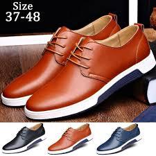 Fashion New Casual <b>Men Shoes Flat Shoes</b> Leather <b>Shoes Plus</b> ...