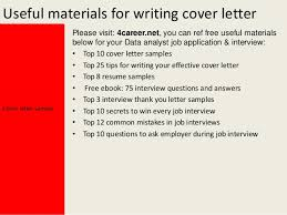 data analyst cover lettercover letter sample yours sincerely mark dixon