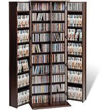 everett espresso large deluxe cd dvd media storage cds furniture