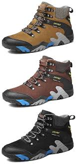 <b>Large Size Men</b> Genuine <b>Leather</b> Waterproof Outdoor Hiking Shoes ...