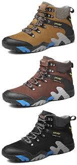 <b>Large Size Men</b> Genuine <b>Leather</b> Waterproof Outdoor Hiking Shoes ...