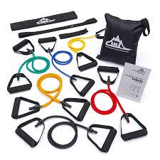 <b>Resistance Band Set</b> of <b>6</b> - With Accessory Kit - Black Mountain ...