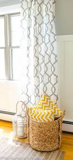 yellow and gray bedroom: summer dining room update with lanterns sisal and new drapes gensroof yellow bedroom decorgray