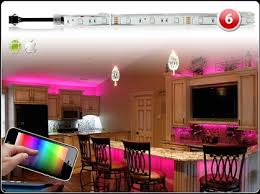 180 led smart home party ambient lighting kit ios android million color iphone wifi app control accent ambient lighting