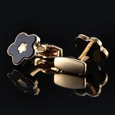 <b>QiQiWu</b> Gold Cufflinks <b>Mens</b> Wedding Luxury Party French Shirt Cuff ...