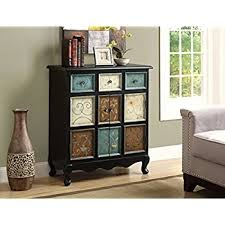 monarch apothecary bombay chest distressed blackmulti color amazoncom stein world furniture anna apothecary