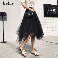 Detail Feedback Questions about <b>Jielur Black</b> Gray Women Skirt ...