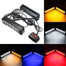 <b>2x 12V 6</b> LED Recovery Strobe Flash Grille Light Warning Hazard ...
