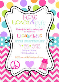 peace love pjs pajama party sleepover slumber party birthday 12 peace love pjs pajama party sleepover slumber party birthday party invites invitations envelopes