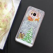 Galaxy S8 Plus Case,S8 Case,Fusicase Shiny Stars <b>Christmas Tree</b> ...