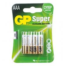 <b>Элемент питания GP Super</b> Alkaline LR03 AAA бл 4, 24A-2CR4 ...