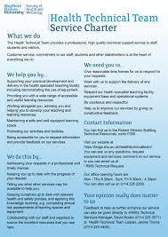 about us health technical team service charter