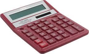 <b>Настольный калькулятор Citizen SDC</b>-<b>888XRD</b>, бордовый ...