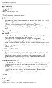 medical receptionist resume. receptionist resume example. resume ... medical receptionist resume