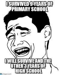 I Survived 9 Years Of Primary School - Yao Ming meme on Memegen via Relatably.com