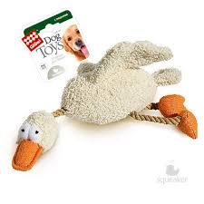 <b>Игрушка</b> для собак <b>GiGwi Dog</b> Toys Утка с 2-мя пищалками, 36 см ...