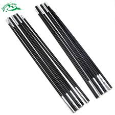 2pcs aluminum alloy camping tent pole spare replacement super lightweight 7mm rod portable for outdoor tents