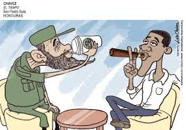 Image result for fidel  cartoons